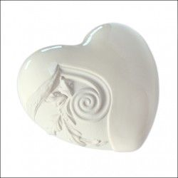 Urna ceramiczna biała serce